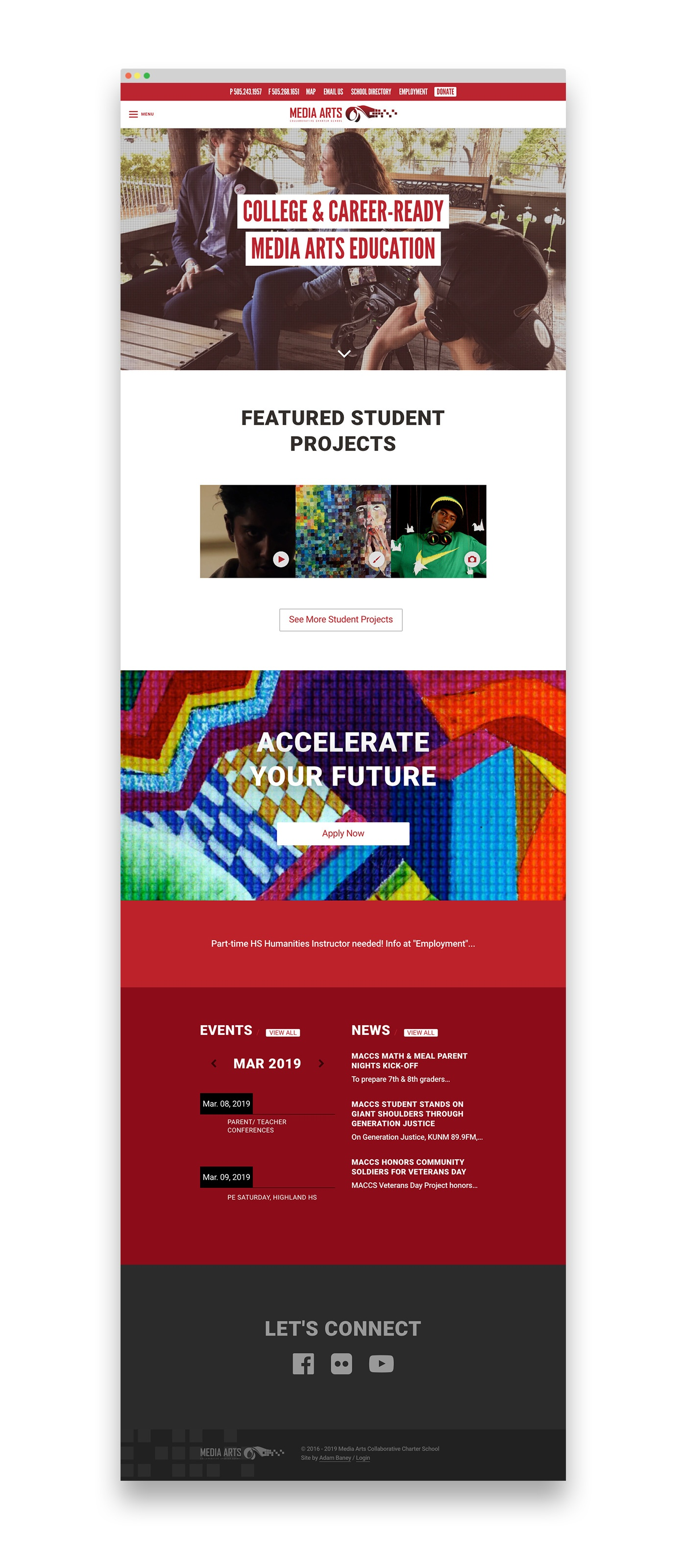 Media Arts School Website